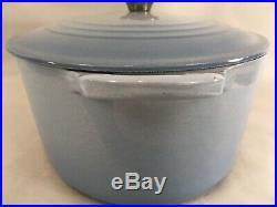 La Creuset #31 6 3/4 Qt Blue Enameled Cast Iron France Dutch Oven
