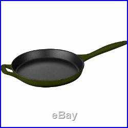 La Cuisine LC 2850MB PRO 6-Piece Enameled Cast Iron Cookware Set in Green