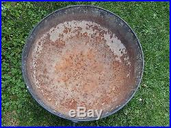 Large Antique Cast Iron 3 Leg 70 lbs Cauldron 30 X 15 Garden Planter Pot Kettle