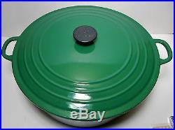 Large Le Creuset 13.25 Quart Emerald Green Cast Iron Dutch Oven #34