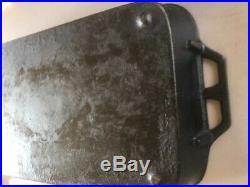 Large Vintage Cast Iron Roast Pan Heavy Discontinued Lodge