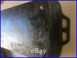 Large Vintage Cast Iron Roast Pan Heavy Discontinued Lodge