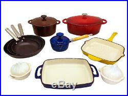 Le Chef 15-Piece All Enameled Cast Iron Cookware Set. (Multi-colored, MXR11.)
