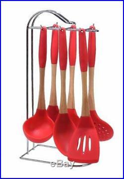 Le Chef 20-Piece Enameled Cast Iron Cookware Set, Cherry