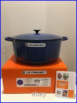 Le Creuset 13.25 Qt Round Dutch Oven-Cobalt (Blue)-Color-Retails-$560