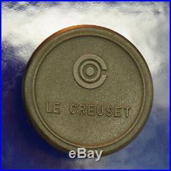 Le Creuset 13.25 qt dutch oven, blue, used, good condition. Retails for $400+