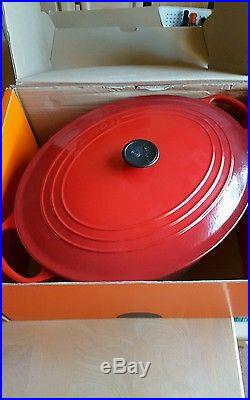 Le Creuset 15 1/2 Quart Oval Dutch Oven NEW CHERRY RED