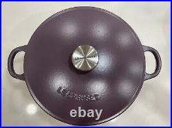 Le Creuset #24 4 Qt Plum Dutch Oven Purple Cassis