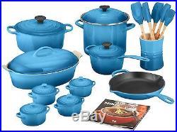 Le Creuset 24-Piece Kitchen Cookware Set Enamel Coated Cast Iron Marseille