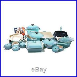 Le Creuset 24-piece Cookware Set CARIBBEAN Enamel coated cast iron