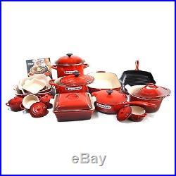 Le Creuset 24-piece Cookware Set CHERRY Enamel coated cast iron