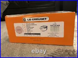 Le Creuset #25 Sugar Pink Matte Rare Color! 3.5 qt Oval Dutch Oven Cast Iron