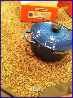 Le Creuset 26 5.5 Qt Enameled Cast Iron Round Dutch Oven Marseille Blue France
