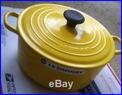 Le Creuset 26 5.5 Qt Enameled Cast Iron Round Dutch Oven Soleil Yellow France