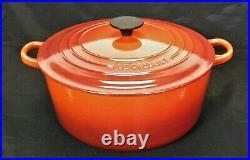 Le Creuset #28 Dutch Oven Red Enamel Cast Iron Signature Nonstick Cerise Color