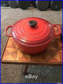 Le Creuset #28 Enameled Cast-Iron 7 1/4 qt Round French (Dutch) Oven 7.25