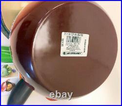 Le Creuset 2L / 2.25 QT Tomato-Shaped Covered Cast Iron Casserole / Cocotte RED