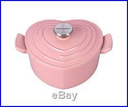 Le Creuset 2qt Heart Cast Iron Pink Casserole Brand New