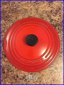 Le Creuset 3.5 Quart Enameled Cast Iron Dutch Oven & Lid Red