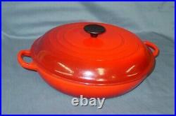 Le Creuset 3.5 qt Braiser #30 Red Enameled Cast Iron Cookware