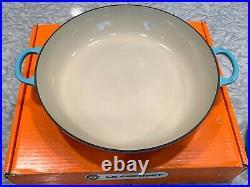 Le Creuset 3.5 qt cast iron braiser Caribbean Teal