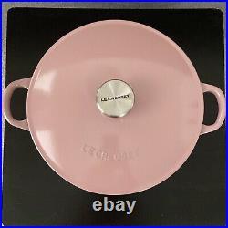 Le Creuset 3.5qt Antique Rose Color Soup Pot Cast Iron Very Rare