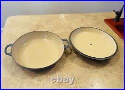 Le Creuset #30 Braiser Enameled Cast Iron Cookware 3.5 Qt Pan & Lid Blue France