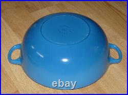 Le Creuset 4-1/4 U. S. Qt Blue Cast Iron Enamel Pot #26 (4.1 L) Cookware France