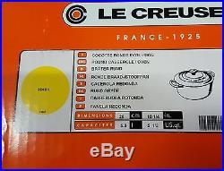 Le Creuset 5 1/2 quart ROUND FRENCH DUTCH OVEN Enameled Cast-Iron #LS2501-261M