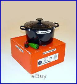 Le Creuset 5.25 QT Iron Cast Deep French Round Dutch Oven / Casserole Cosmos
