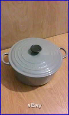 Le Creuset 5.5 Qt Cast Iron Enameled Round Dutch Oven #26, Gray, Lifetime