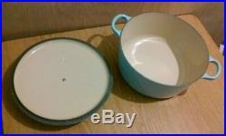 Le Creuset 5.5 Qt Cast Iron Enameled Round Dutch Oven #26, Sky Blue, Lifetime