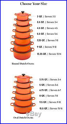 Le Creuset 5.5 Qt Round Dutch Oven-Cobalt (Blue)-Color-Retails $450