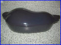 Le Creuset 5 Qt Eggplant Purple Cast Iron Dutch Oven Casserole Aubergine RARE