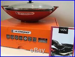 Le Creuset-5 Qt Wok-Cerise-Cast Iron-Retails $400