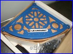 Le Creuset 5-tier Pot Stand/rack Blue In Original Box