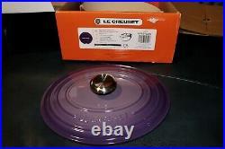 Le Creuset 5qt ULTRA VIOLET (RARE) Signature Oval Dutch Oven Cast Iron