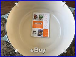 Le Creuset 7 1/4 Quart Round Sea Salt Blue Dutch Oven Flawless New