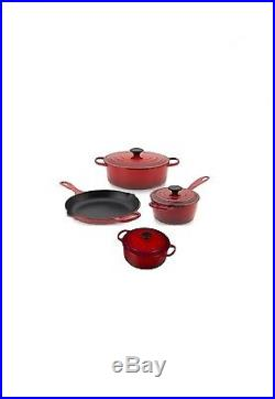 Le Creuset 7 Piece Cast Iron Cookware Set, new