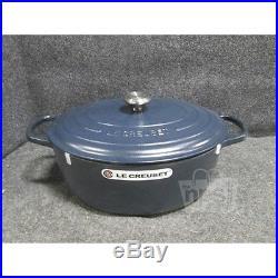 Le Creuset 7693885 Signature Cast-Iron Oval Dutch Oven 9 1/2Qt Matte Navy