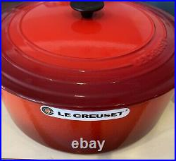 Le Creuset 9 qt French (Dutch) Oven in Cerise Cherry Red (Classic) New In Box