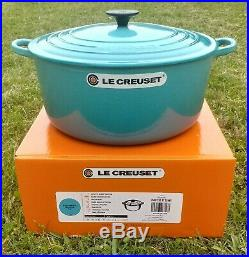 Le Creuset 9qt French (Dutch) Oven Bleu Caraïbes (Caribbean Teal) 30cm 9 quart