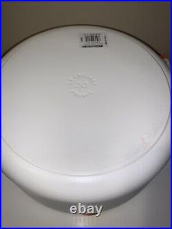Le Creuset 9qt Matte Cotton Cast Iron Round Dutch Oven Signature/new In Box