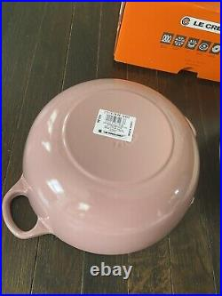 Le Creuset Antique Rose Pink Cast Iron Soup Pot Marmite 3.5 Qt 24 New