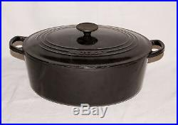 Le Creuset Black Enameled Cast Iron #31 6.75 Qt Oval Dutch Oven Made in France