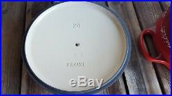 Le Creuset Bon Appetit 4.5 Qt #24 Gold Knob Cast Iron Round Dutch Oven Limited