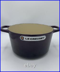 Le Creuset CASSIS Cast Iron Deep Round Oven 5 1/4 qt, ladle and cookbook