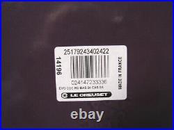 Le Creuset Cassis Cast Iron Risotto Pot 3 1/2 Qt. Newbox