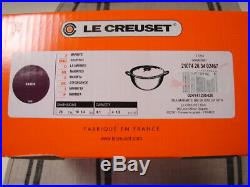 Le Creuset Cassis Cast Iron Soup Pot 4 1/2 Qt. Trivet/cookbook Newbox