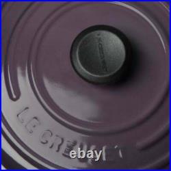 Le Creuset Cassis Round Dutch Iron Cast Oven Casserole 2.75 Quart Qt Rare